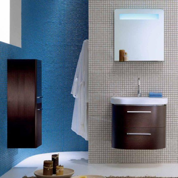 Комплект мебели для ванной комнаты Berloni Bagno DAY BS04+CB01+SO01 (отделка шпон, цвет 405 венге)