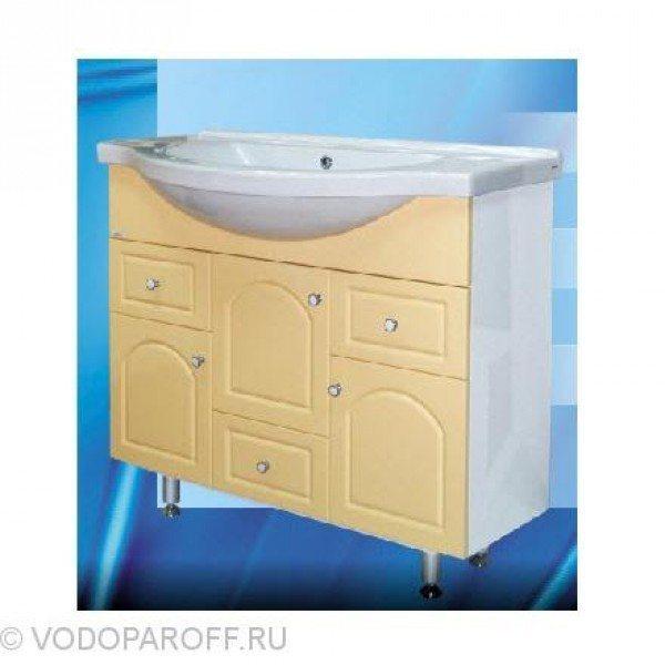 Тумба с раковиной для ванной SANMARIA Венге 100 (цвет ваниль)