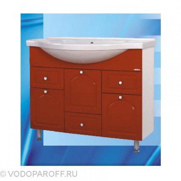 Тумба с раковиной для ванной SANMARIA Венге 100 (цвет красный)