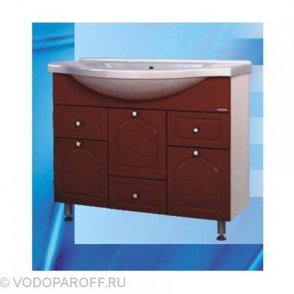 Тумба с раковиной для ванной SANMARIA Венге 100 (цвет вишня)
