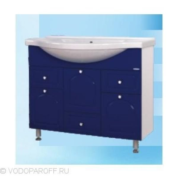 Тумба с раковиной для ванной SANMARIA Венге 100 (цвет синий)