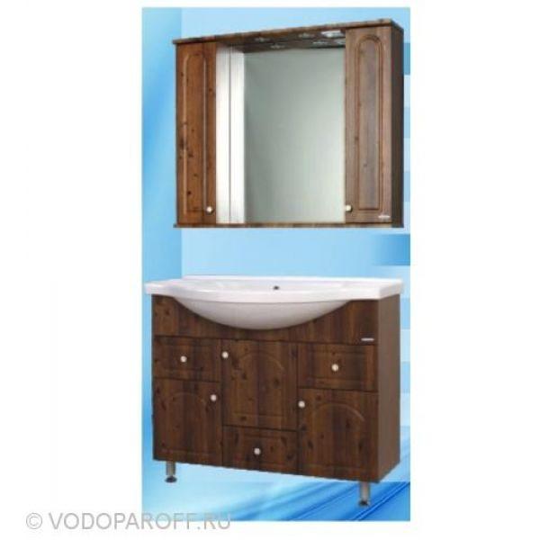 Комплект мебели для ванной SANMARIA Венге 100 (цвет светлый орех)