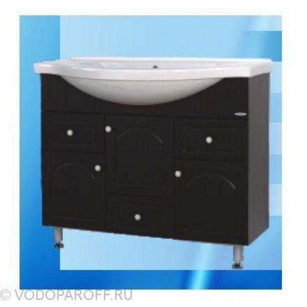 Тумба с раковиной для ванной SANMARIA Венге 100 (цвет венге)
