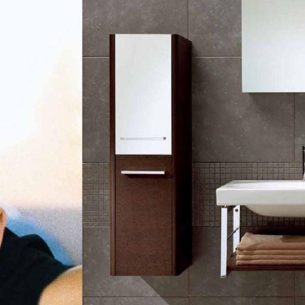 Пенал для ванной Berloni Bagno CB01 (цвет венге 405, отделка шпон)