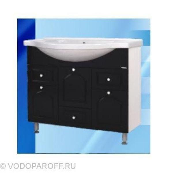 Тумба с раковиной для ванной SANMARIA Венге 100 (цвет черный)