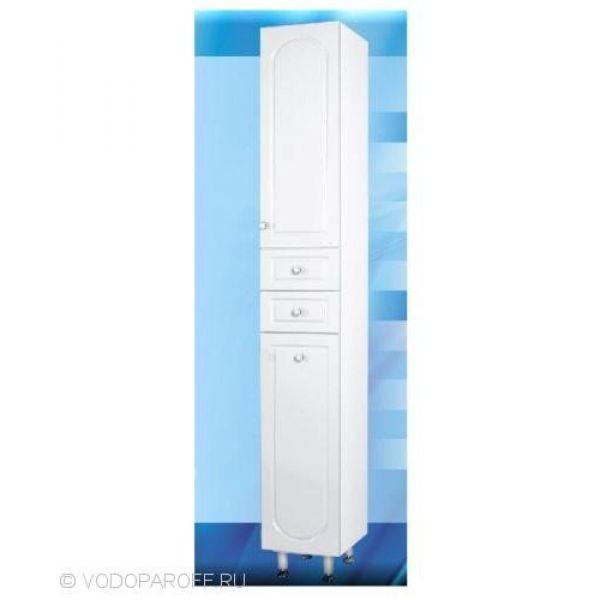 Пенал для ванной с корзиной для белья SANMARIA Венге (цвет белый)
