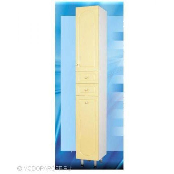 Пенал для ванной с корзиной для белья SANMARIA Венге (цвет ваниль)