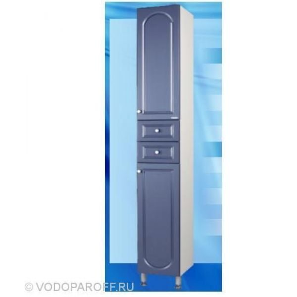 Пенал для ванной SANMARIA Венге (цвет голубой металлик)
