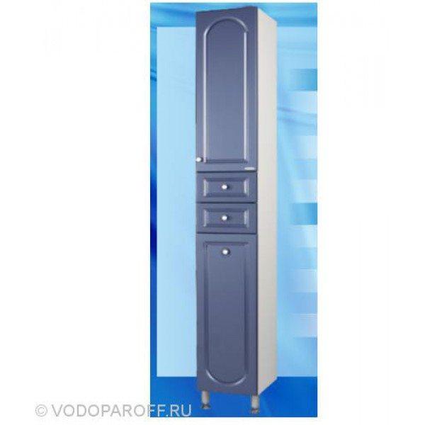 Пенал для ванной с корзиной для белья SANMARIA Венге (цвет голубой металлик)