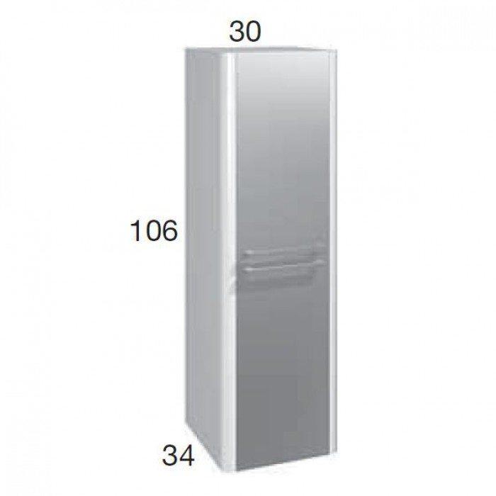Пенал для ванной комнаты Berloni Bagno DAY CB02 (цвет венге 405, отделка шпон)
