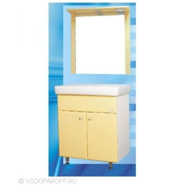 Комплект мебели для ванной SANMARIA Кристалл 60 (цвет ваниль)