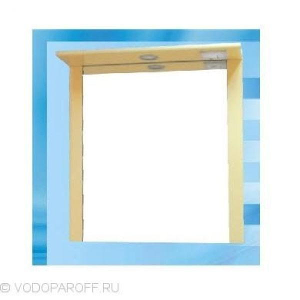 Зеркало для ванной SANMARIA Кристалл 60 (цвет ваниль)