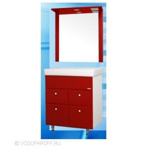 Комплект мебели для ванной SANMARIA Кристалл 60 (цвет красный)