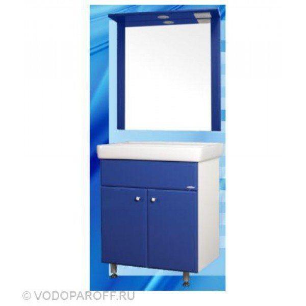 Комплект мебели для ванной SANMARIA Кристалл 60 (цвет синий)