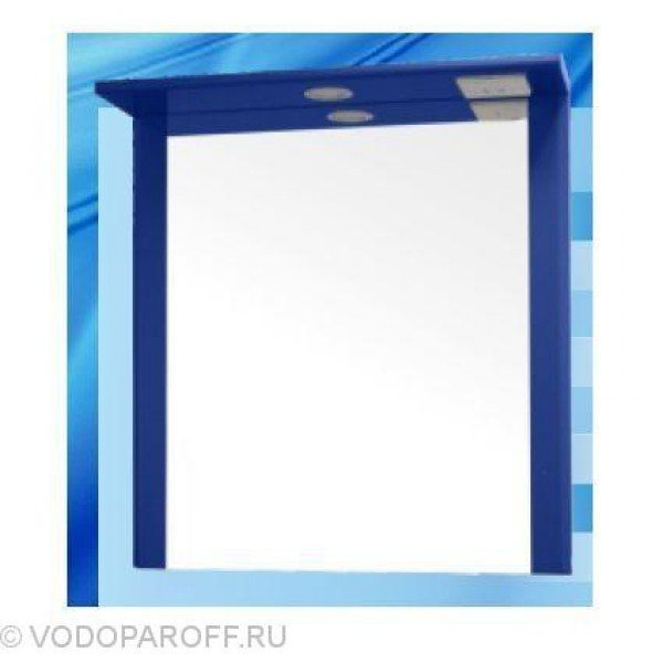 Зеркало для ванной SANMARIA Кристалл 60 (цвет синий)