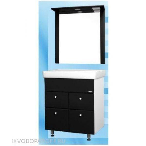 Комплект мебели для ванной SANMARIA Кристалл 60 (цвет черный)