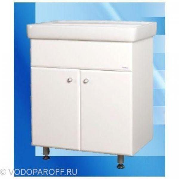 Тумба с раковиной для ванной SANMARIA Кристал 70 (цвет белый, распашные створки)