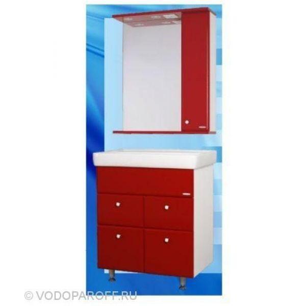 Комплект мебели для ванной SANMARIA Кристалл 70 (цвет красный)