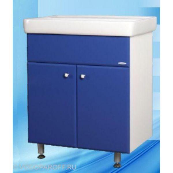 Тумба с раковиной для ванной SANMARIA Кристалл 70 (цвет синий)