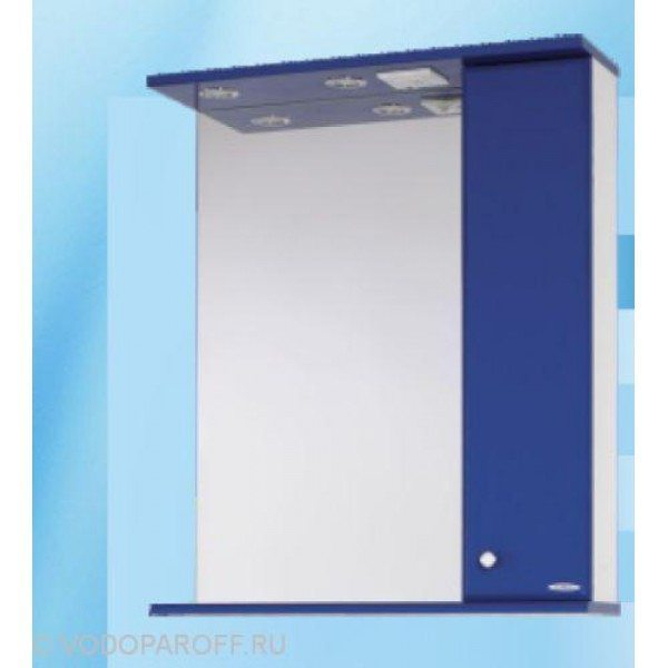Зеркало для ванной SANMARIA Кристалл 70 (цвет синий)