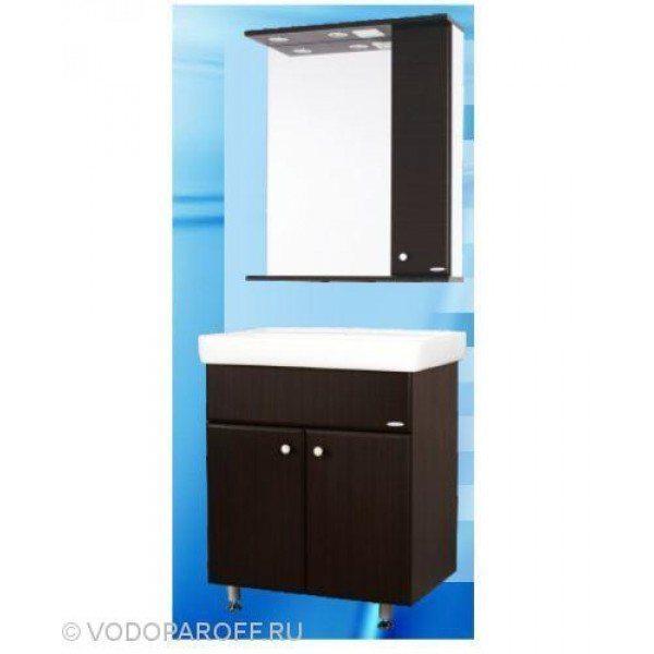 Комплект мебели для ванной SANMARIA Кристалл 70 (цвет венге)