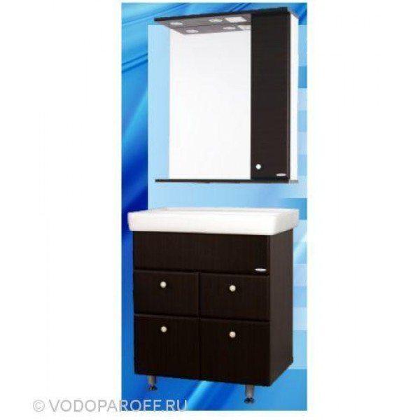 Комплект мебели для ванной SANMARIA Кристалл 70 (цвет венге, створки+ящики)