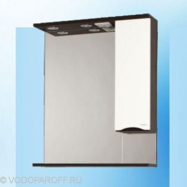 Зеркало для ванной SANMARIA Квадро 60 (цвет венге с белым)