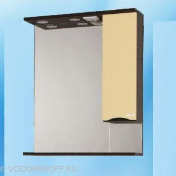 Зеркало для ванной SANMARIA Квадро 60 (цвет венге/ваниль)