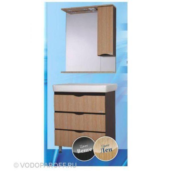 Комплект мебели для ванной SANMARIA Квадро 60 (цвет венге/лён)