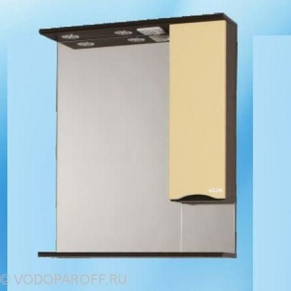 Зеркало для ванной SANMARIA Квадро 70 (цвет венге/ваниль)