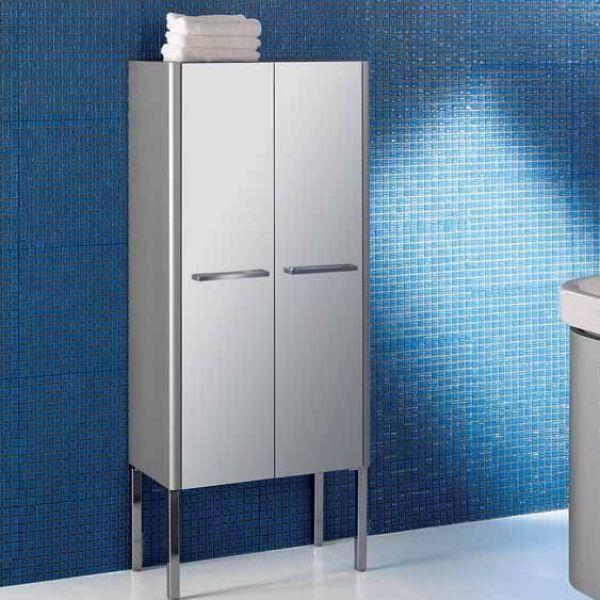 Шкаф для ванной комнаты Berloni Bagno DAY CB10 (матовая поверхность, цвет 121 silice opaco, серый матовый)