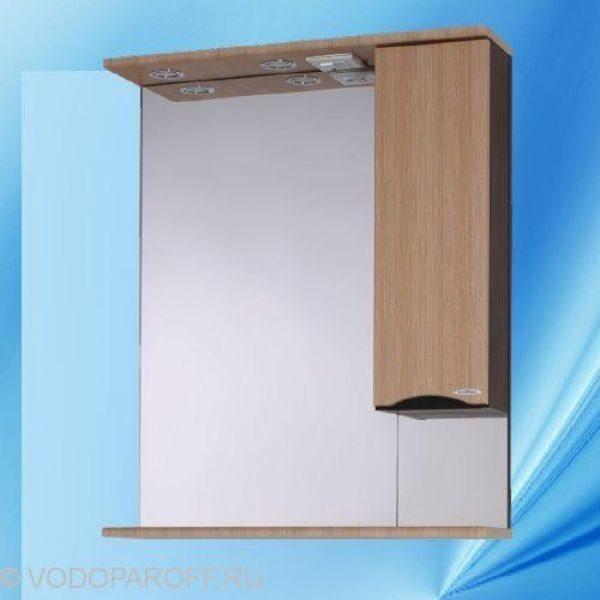 Зеркало для ванной SANMARIA Квадро 70 (цвет венге/лён)
