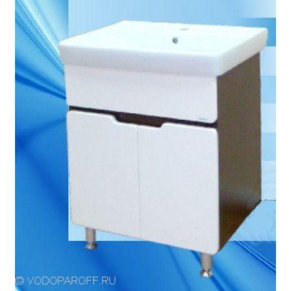 Тумба с раковиной для ванной SANMARIA Вена 60 (цвет венге/белый)