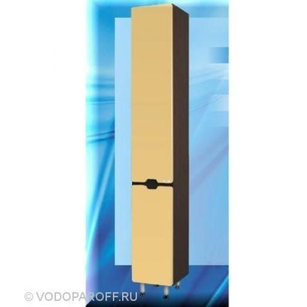 Пенал для ванной SANMARIA Вена 35 с корзиной для белья (цвет венге/ваниль)