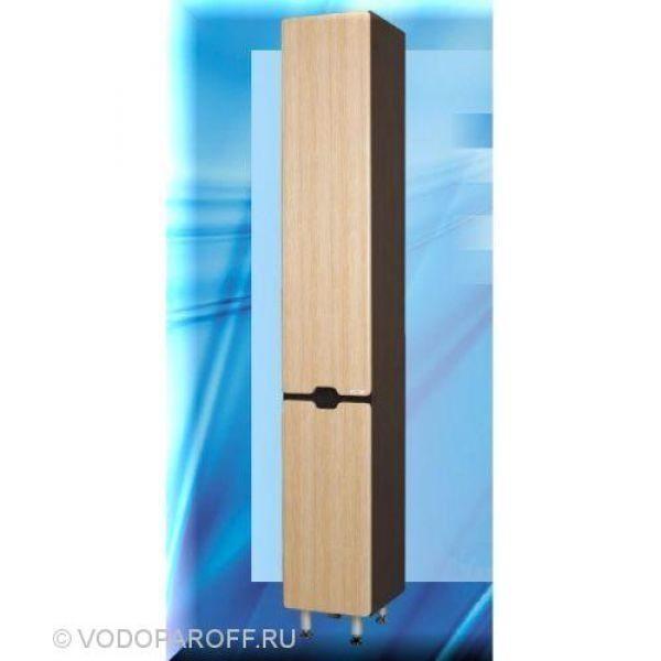 Пенал для ванной SANMARIA Вена 35 с корзиной для белья (цвет венге/лён)