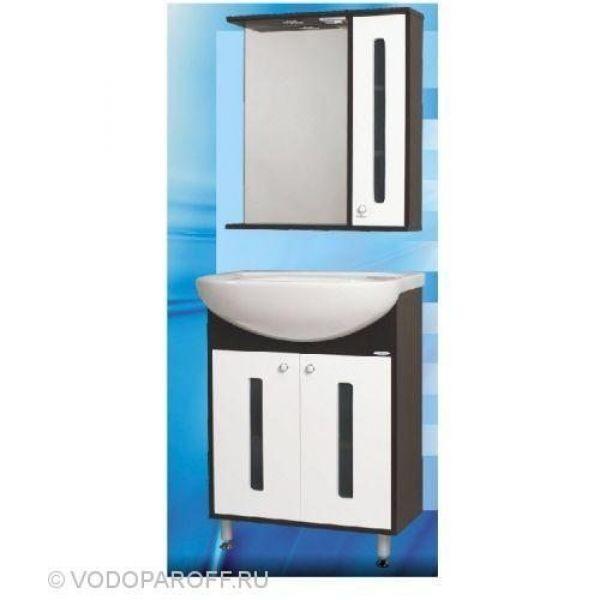 Комплект мебели для ванной SANMARIA Париж 60 (цвет венге с белым)
