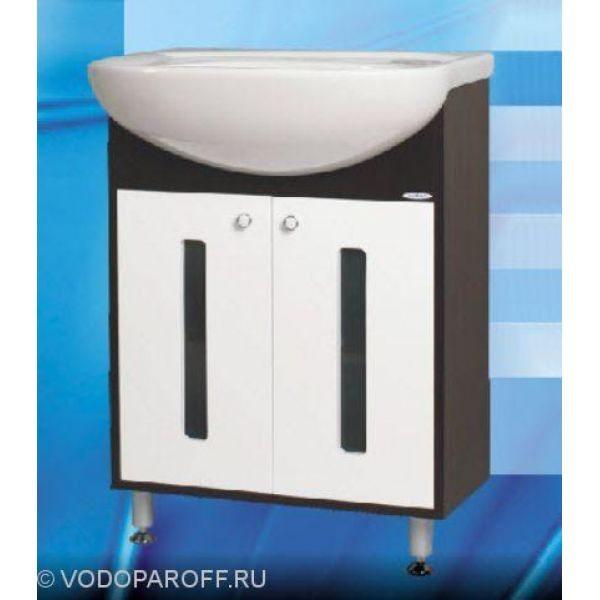 Тумба с раковиной для ванной SANMARIA Париж 65 (цвет венге с белым)