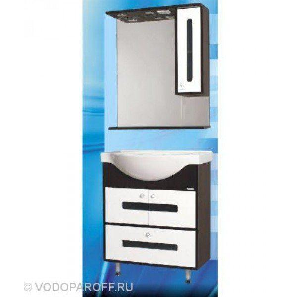 Комплект мебели для ванной SANMARIA Париж 70 (цвет венге с белым)