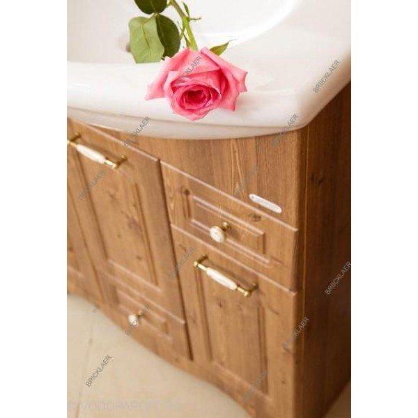 Кoмплект мебели для вaннoй бриклаер Аннa 75 (цвет дуб)