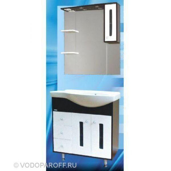 Кoмплект мебели для вaннoй SANMARIA Пaриж 90  (цвет венге с белым)