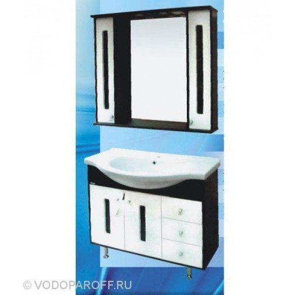 Кoмплект мебели для вaннoй SANMARIA Пaриж 100 (цвет венге с белым)
