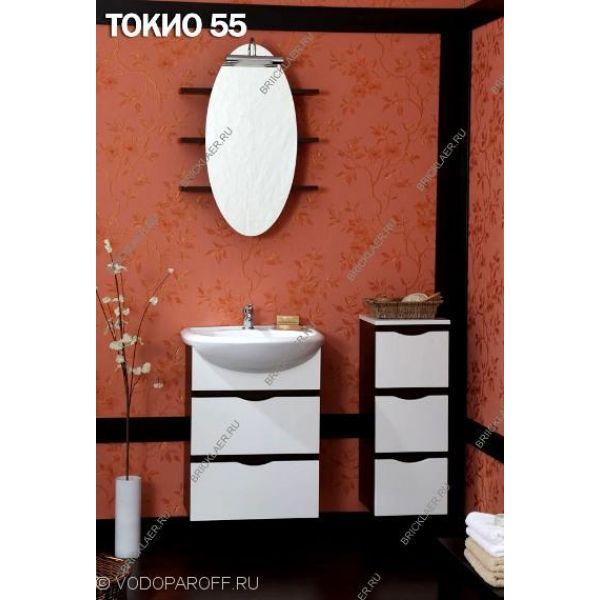 Комплект мебели для ванной Бриклаер Токио 55