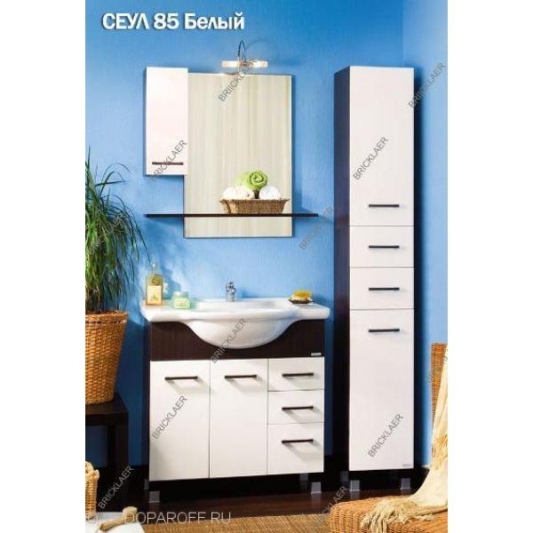 Кoмплект мебели для вaннoй бриклаер Сеул 85 (белый)