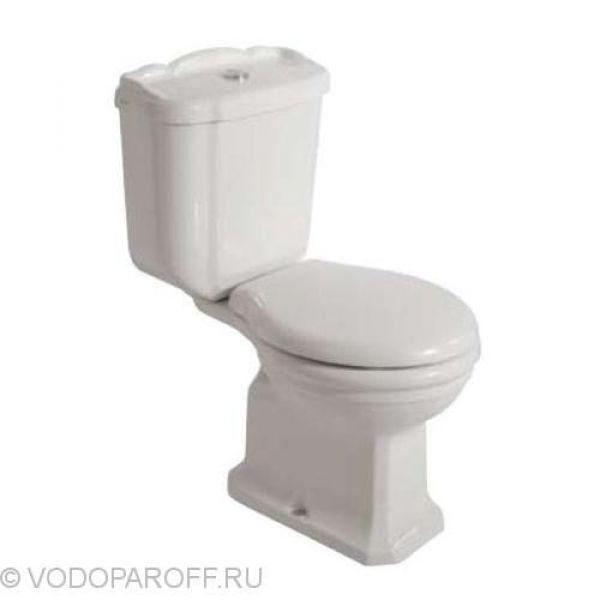 Унитаз моноблок Globo PAESTUM PA004 с керамическим бачком PA012 (сидение и крышка белое)