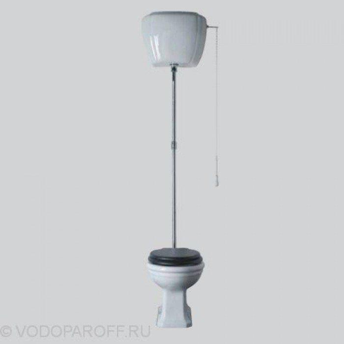 Унитаз напольный Globo PAESTUM PA002 с подвесным керамическим бачком PA010 на высокой трубе