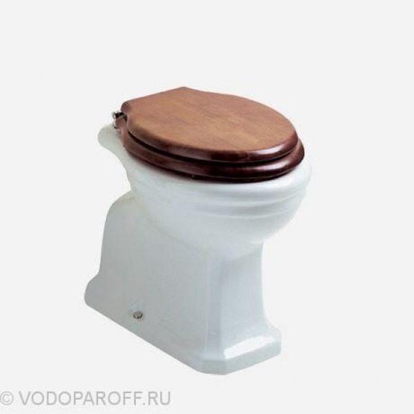 Унитаз напольный приставной Globo Paestum PA002 (сидение и крышка орех)