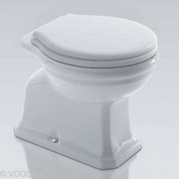 Унитаз напольный приставной Globo PAESTUM PA002 (сидение и крышка белое)