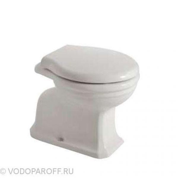 Унитаз напольный приставной Globo PAESTUM PA001 (сидение и крышка белое)