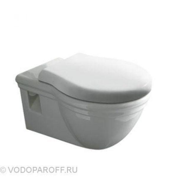 Унитаз подвесной Globo PAESTUM PAS02 (сидение и крышка полиэстер белое)