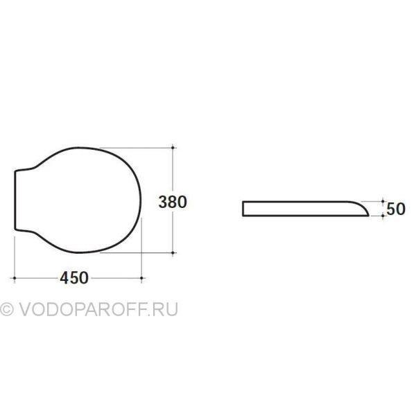 Сидение и крышка для унитазов Globo PAESTUM PA020 (полиэстер, цвет белый)